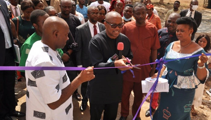 HIS EXCELLENCY MR. PETER OBI  COMMISSIONS THE FOREMOST AE-FUNAI IGBO CENTRE