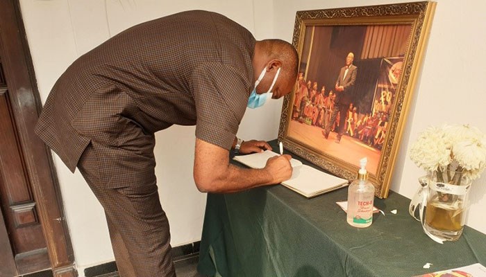 AE-FUNAI VC, PROF NWAJIUBA COMMISERATES WITH FAMILY OF HIS LATE PREDECESSOR, DISTINGUISHED PROF. IBIDAPO OBE