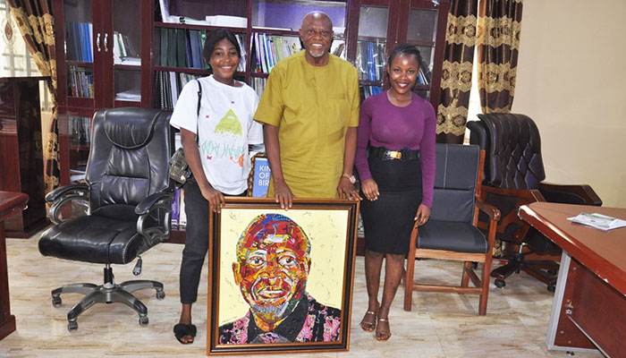 AE-FUNAI VC COMMENDS TWO STUDENTS FOR GIRL-CHILD ADVOCACY, ARTISTIC PROWESS